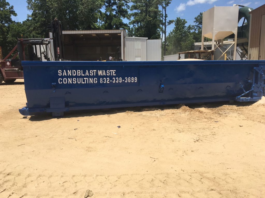 Sandblast Waste container to hold recycling abrasive